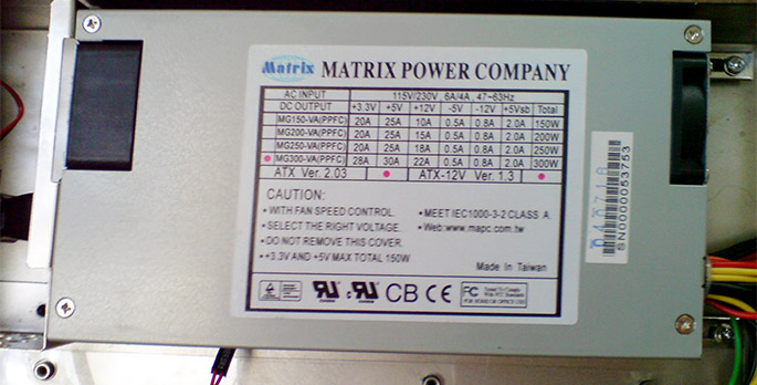 Блок питания для сервера MATRIX POWER 300W