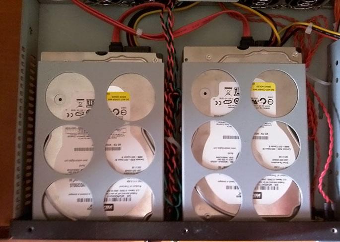 Жесткие диски 2x320 Гб WD SATA RAID 1